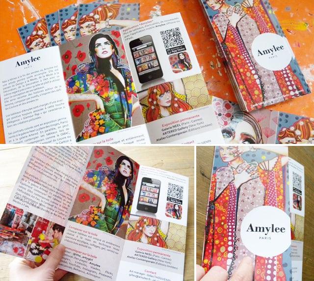 Populaire Mes brochures 3 volets sont arrivées | Amylee LT84