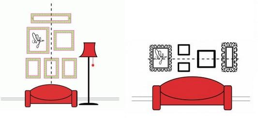 accrocher des tableaux comment accrocher des tableaux sans faire de trous fixation tableau sans. Black Bedroom Furniture Sets. Home Design Ideas