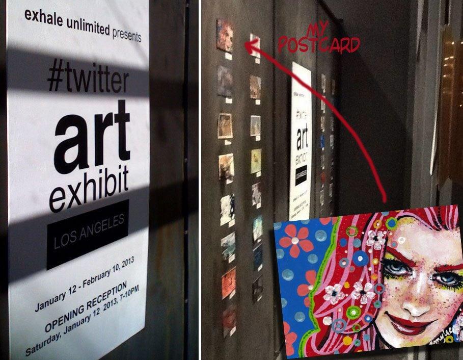 Twitter art exhibit los angeles 2013
