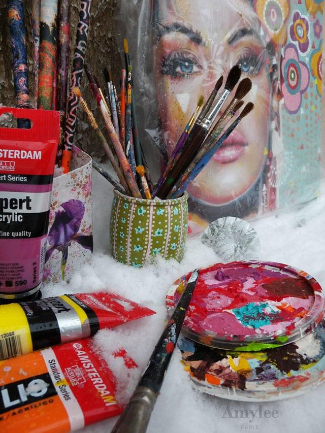 Atelier d 39 artiste peintre sous la neige amylee - Atelier artiste peintre ...