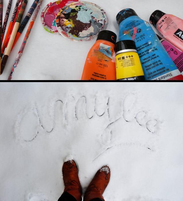 blog neige art artiste peintre