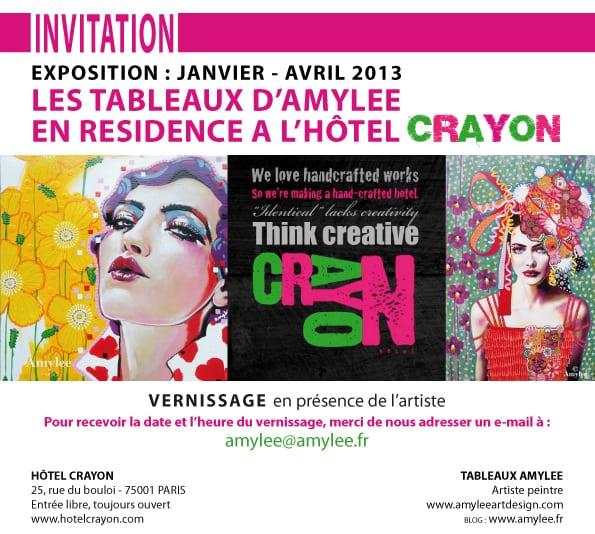 invitation exposition hotel crayon amylee