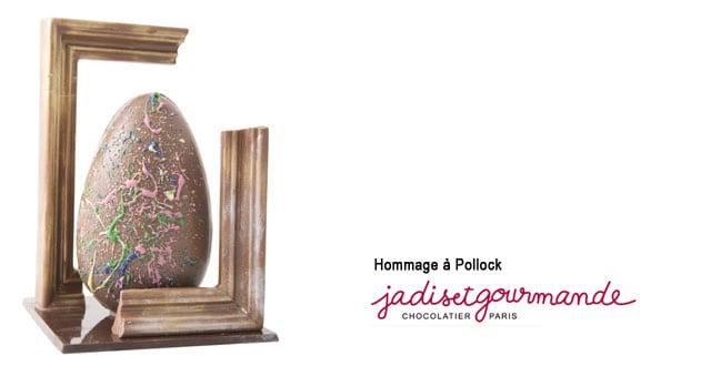 hommage-à-pollock jadis gourmande art chocolat oeuf
