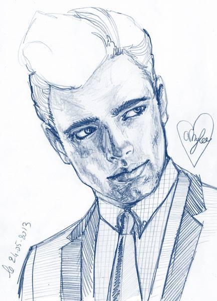 portrait homme crayon papier