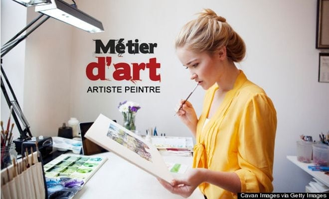 le m u00e9tier d u0026 39 artiste peintre  fiche explicative