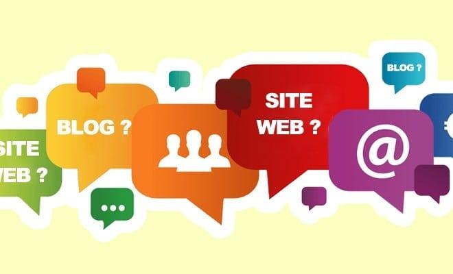 blogue blog site internet quelles differences