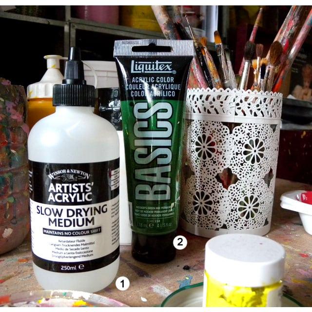 La Peinture Acrylique  Utilisation  Amylee