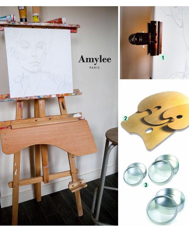 chevalet-tableau-peintre art palette