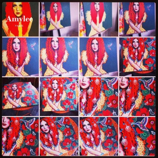 tableau peinture atelier artiste peintre portrait couleurs