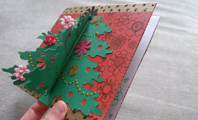 Idée et création : Carte de voeux faite à la main
