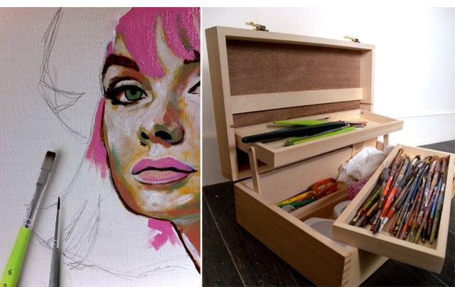 le pinceau utilisation et entretien amylee. Black Bedroom Furniture Sets. Home Design Ideas
