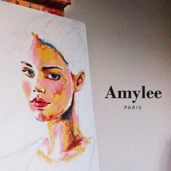 peinture tableau portrait art amylee