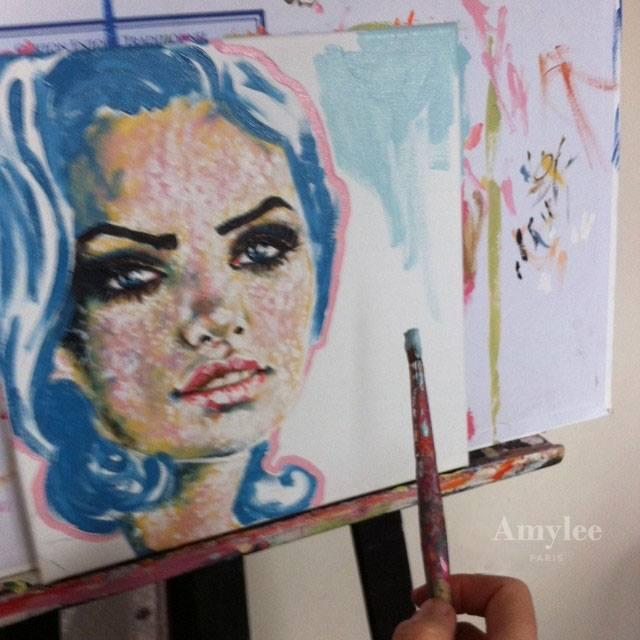 tableau artiste peintre peinture portrait amylee