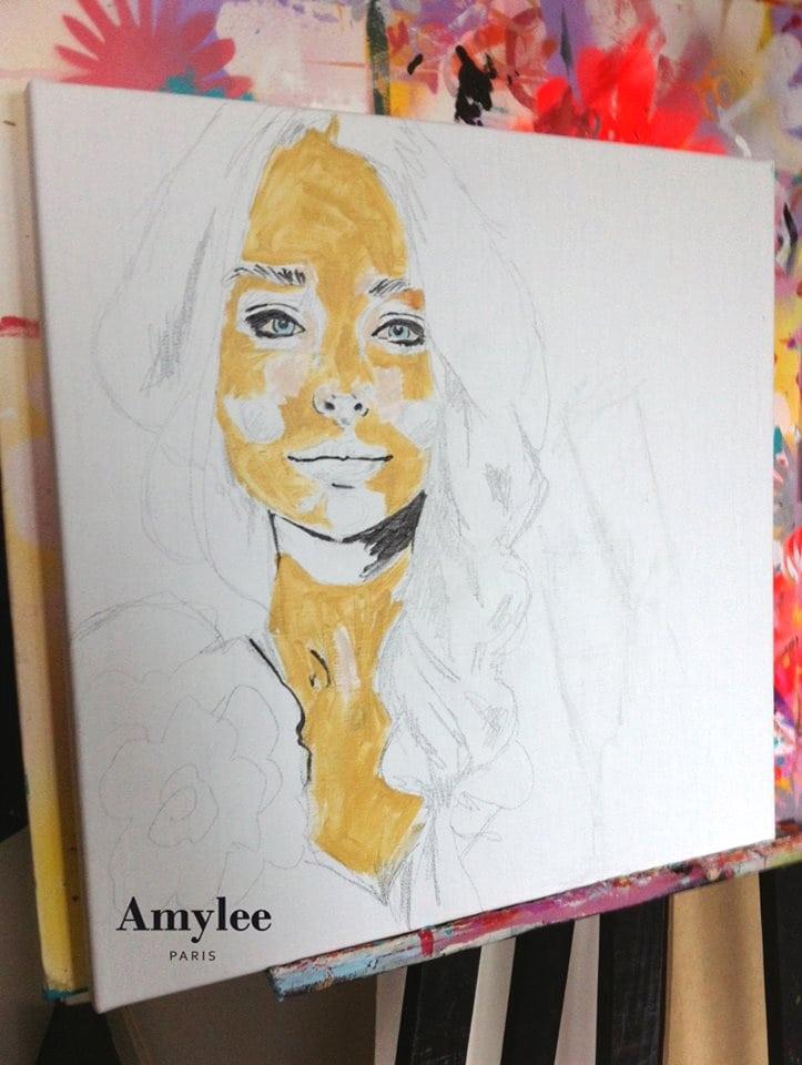 tableau peinture portrait amylee paris