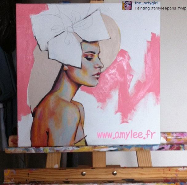 portrait couleurs peinture tableau peintre amylee