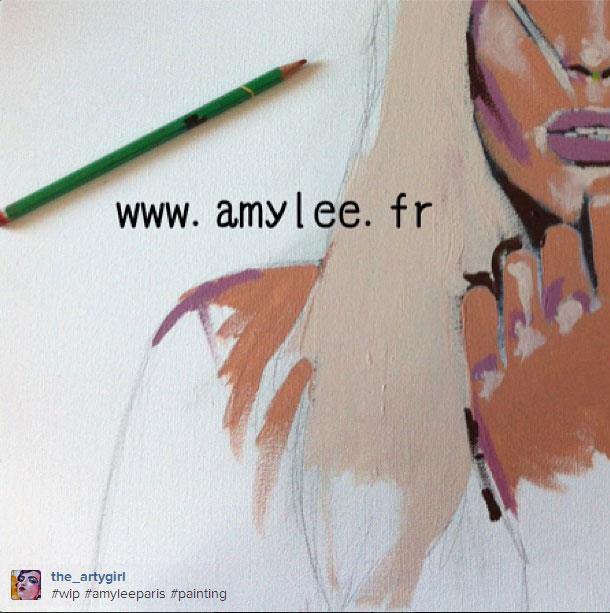 art tableau peinture portrait amylee
