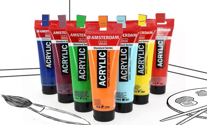 astuce pour ranger efficacement des tubes de peinture