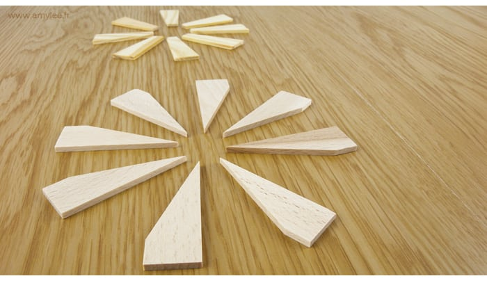 Cles chassis tableau bois art