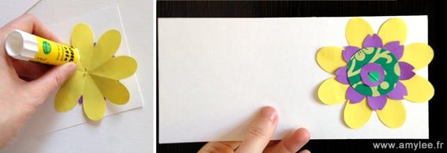 papiers fleurs carte invitation