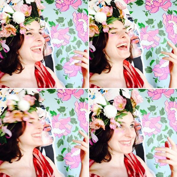 artiste peintre selfie art tavleaux couleurs blogueuse