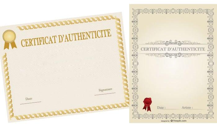 le certificat d 39 authenticit en 7 points le magazine de l 39 artiste entrepreneur. Black Bedroom Furniture Sets. Home Design Ideas