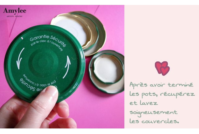art recycler couvercles pot confiture creation idée