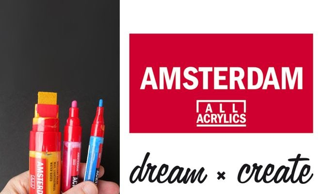 peinture acrylique marqueurs amsterdam amylee. Black Bedroom Furniture Sets. Home Design Ideas