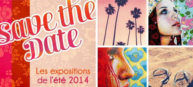 Été 2014 : les expositions avec les tableaux d'Amylee