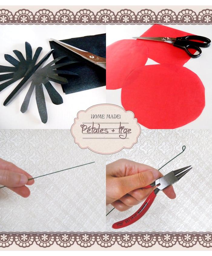 accessoire, découpage, creation, fleurs faciles, papier