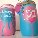 rose-bleu-bocal-idée-recyclage-peinture