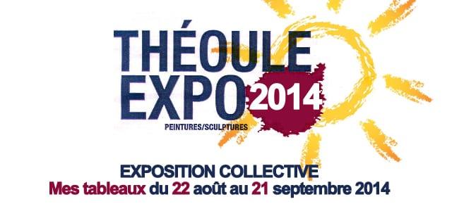 Exposition : mes tableaux à Théoule-sur-Mer (août-septembre 2014)