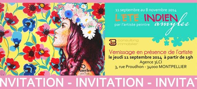 Mes tableaux s'exposent à Montpellier