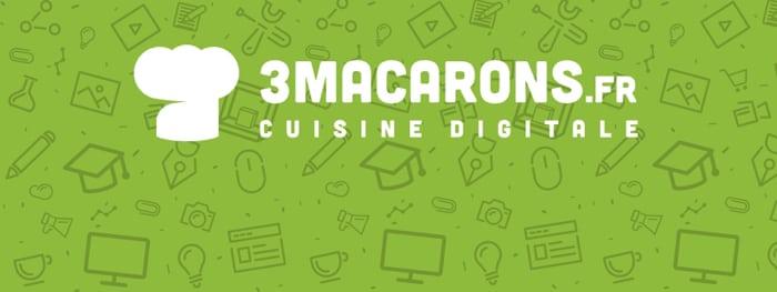 3macarons.fr, cuisine digitale,  3D