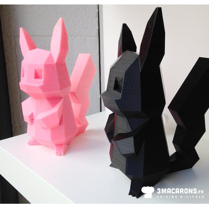 impression 3d Pikachu, 3macarons, objet design