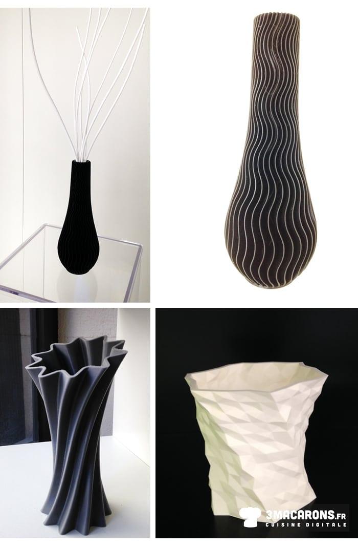 impression 3D, objet, vases, macarons.fr