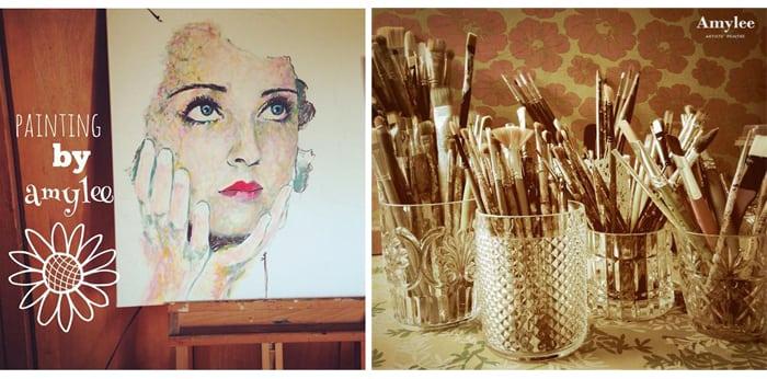 tableau peintre amylee portrait pop galerie