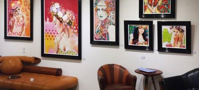 Mes tableaux exposés à Glasgow