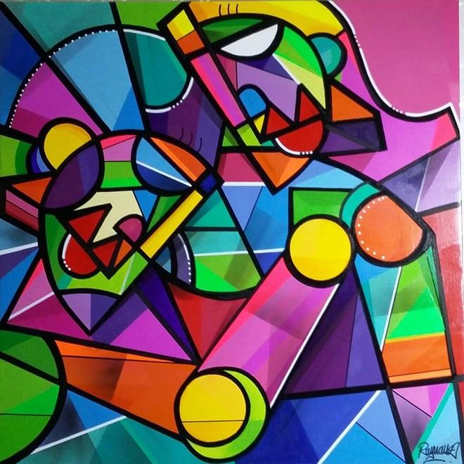 Julien Raynaud Tableau Cubiste