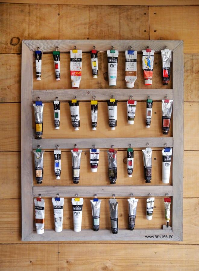 chassis bois rangement peinture