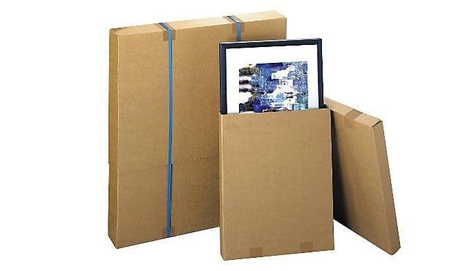 carton t lescopique pour emballer des tableaux amylee. Black Bedroom Furniture Sets. Home Design Ideas