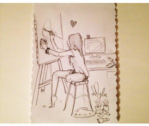 art-amylee-tableau-dessin-crayon