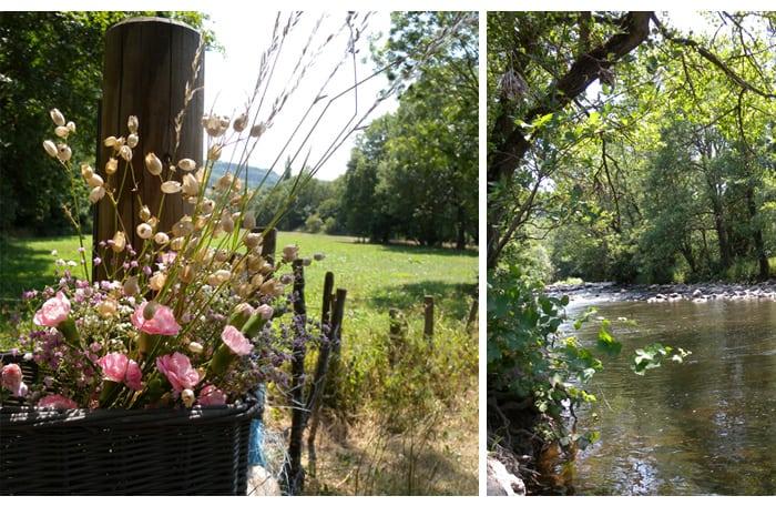 partie campagne riviere été soleil promenade