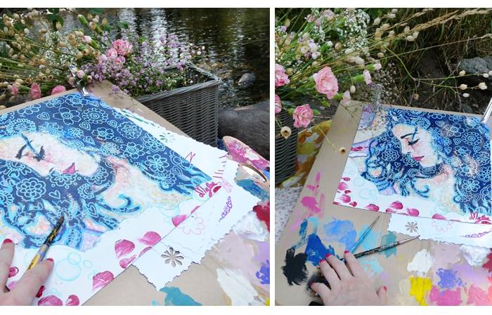 amylee, peinture, tableau, artiste peintre, art blog,