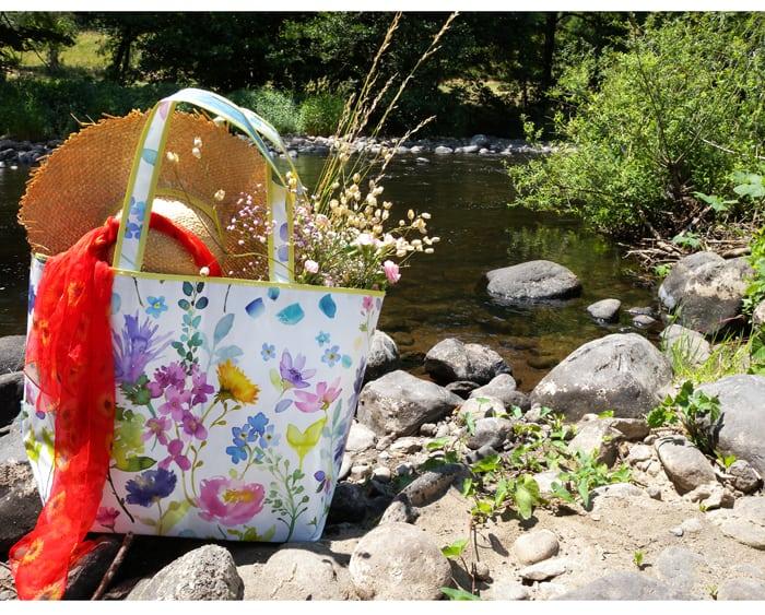 bag, bluebellgray, flowers, art, colours