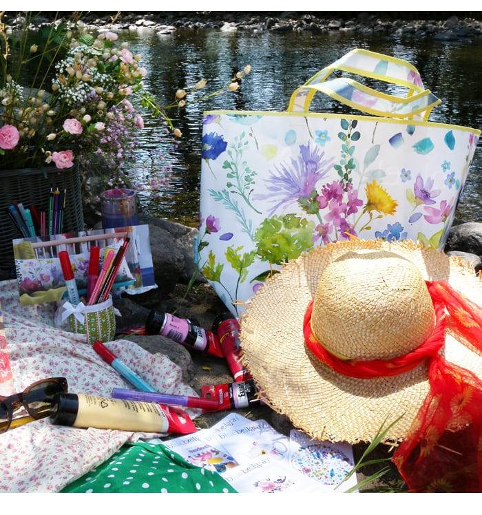 bluebellgray, sac, fleurs, motifs, artist
