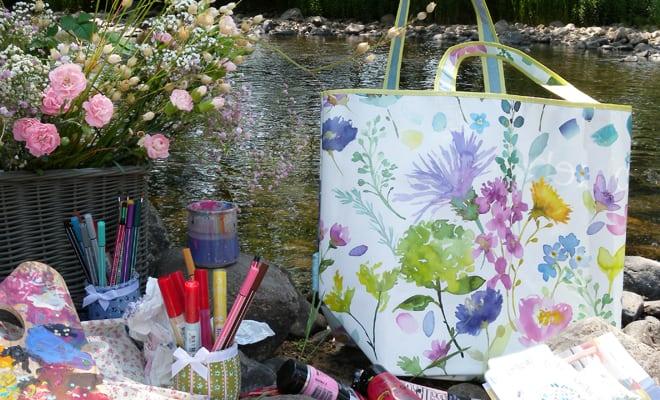 bluebellgray, art, bag, colours, Tetbury Shopper Bag