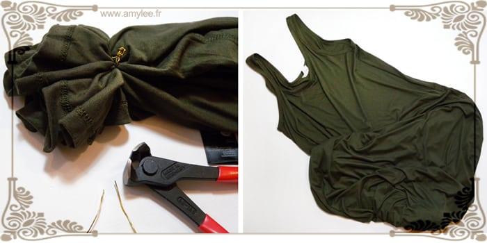 tutoriel pouf emballage papier bulle creation diy facile faire recyclage recuperation tee shirt maxi dress robe debardeur