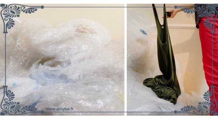 papier bulle emballage oeuvre art tableaux sculpture