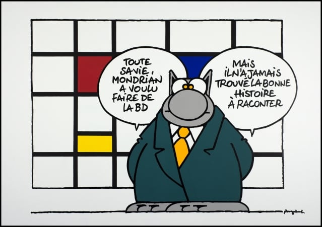 mondrian artist le chat geluck creation