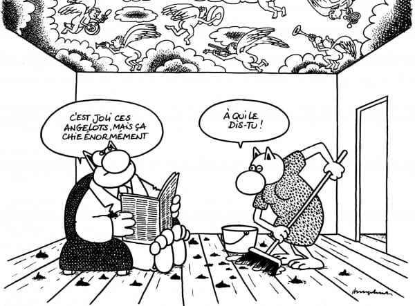 le chat geluck dessin comic strip art